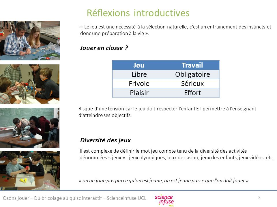Réflexions introductives