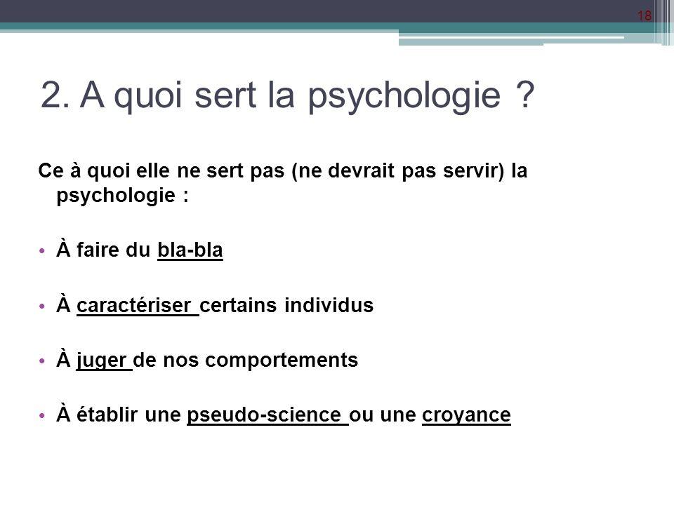 2. A quoi sert la psychologie