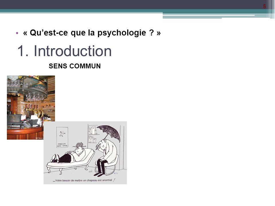 « Qu'est-ce que la psychologie »