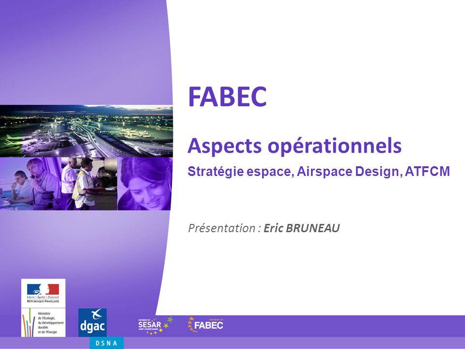 FABEC Aspects opérationnels Stratégie espace, Airspace Design, ATFCM