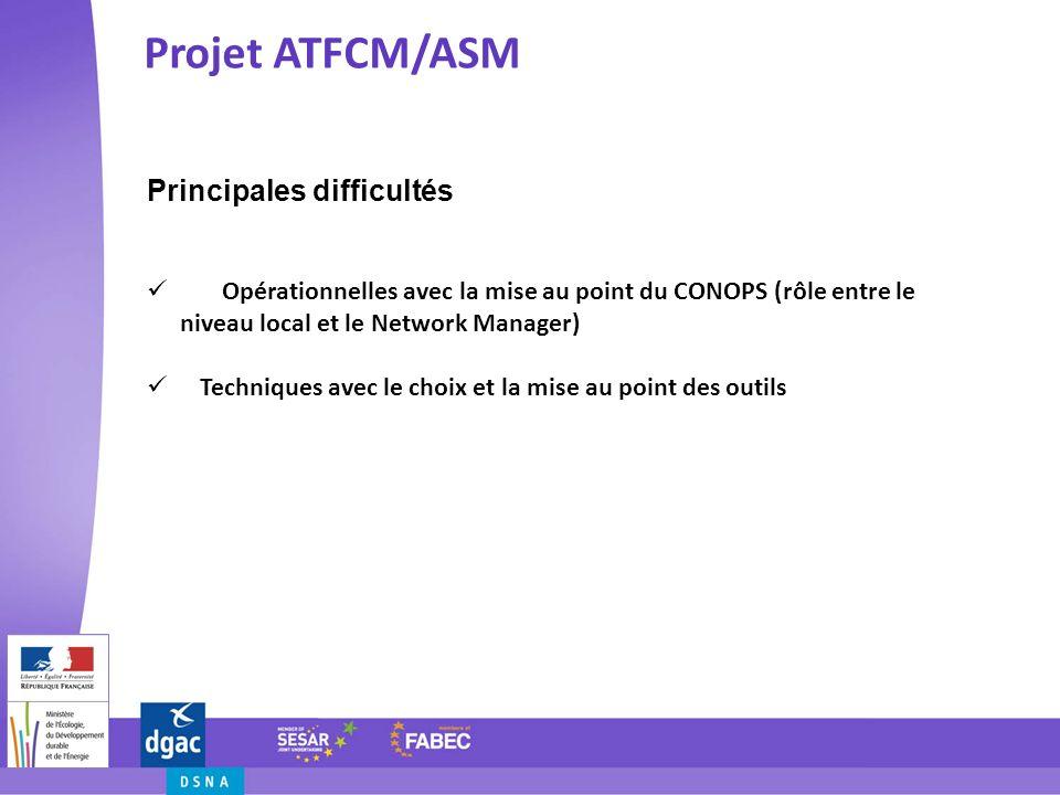 Projet ATFCM/ASM Principales difficultés