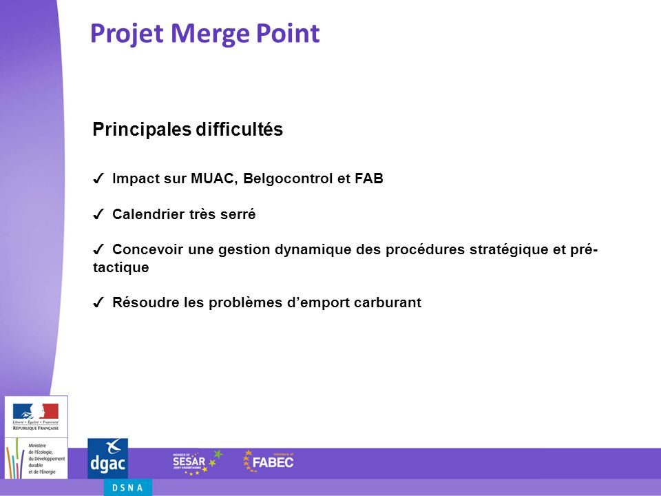 Projet Merge Point Principales difficultés