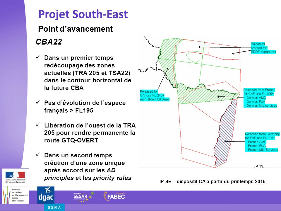 Projet South-East Projet South-East Point d'avancement