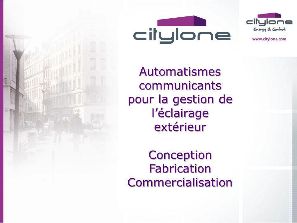 Automatismes communicants pour la gestion de l'éclairage extérieur Conception Fabrication Commercialisation