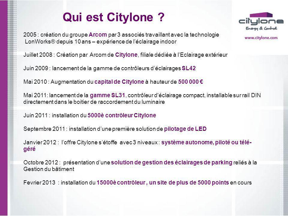 Qui est Citylone 2005 : création du groupe Arcom par 3 associés travaillant avec la technologie.