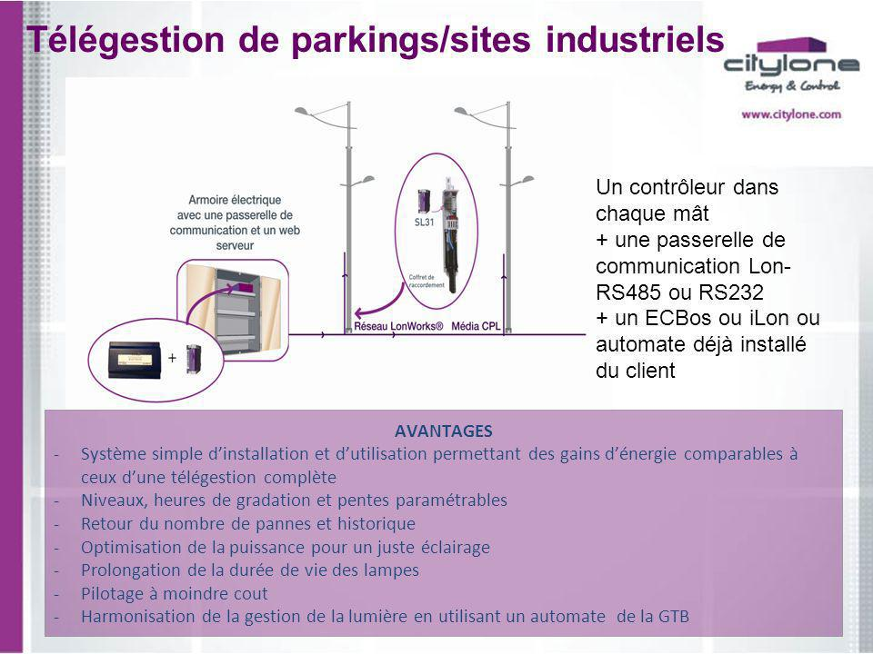 Télégestion de parkings/sites industriels