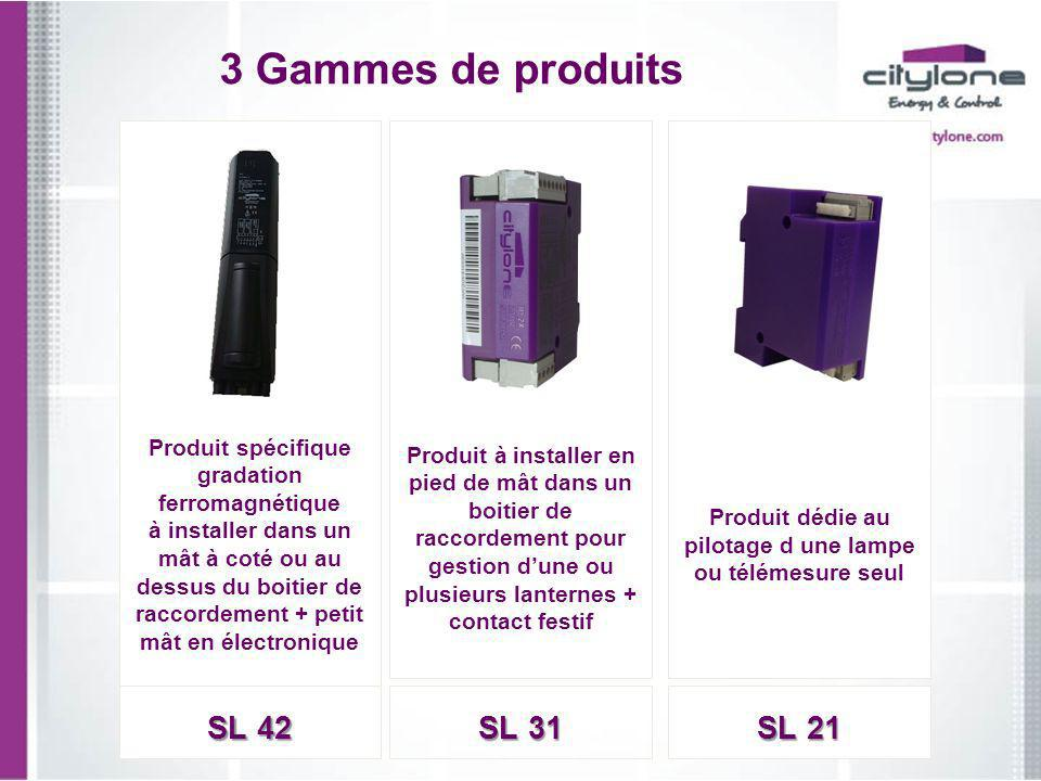 3 Gammes de produits SL 42 SL 31 SL 21