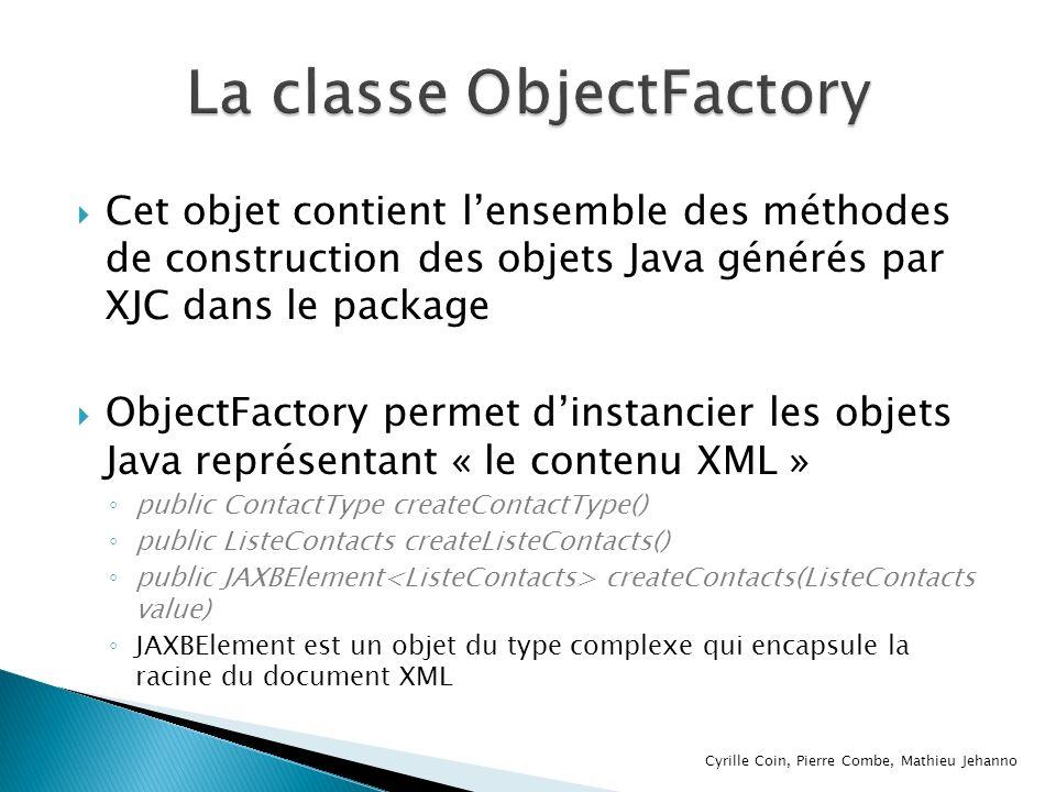 La classe ObjectFactory