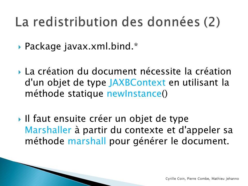 La redistribution des données (2)