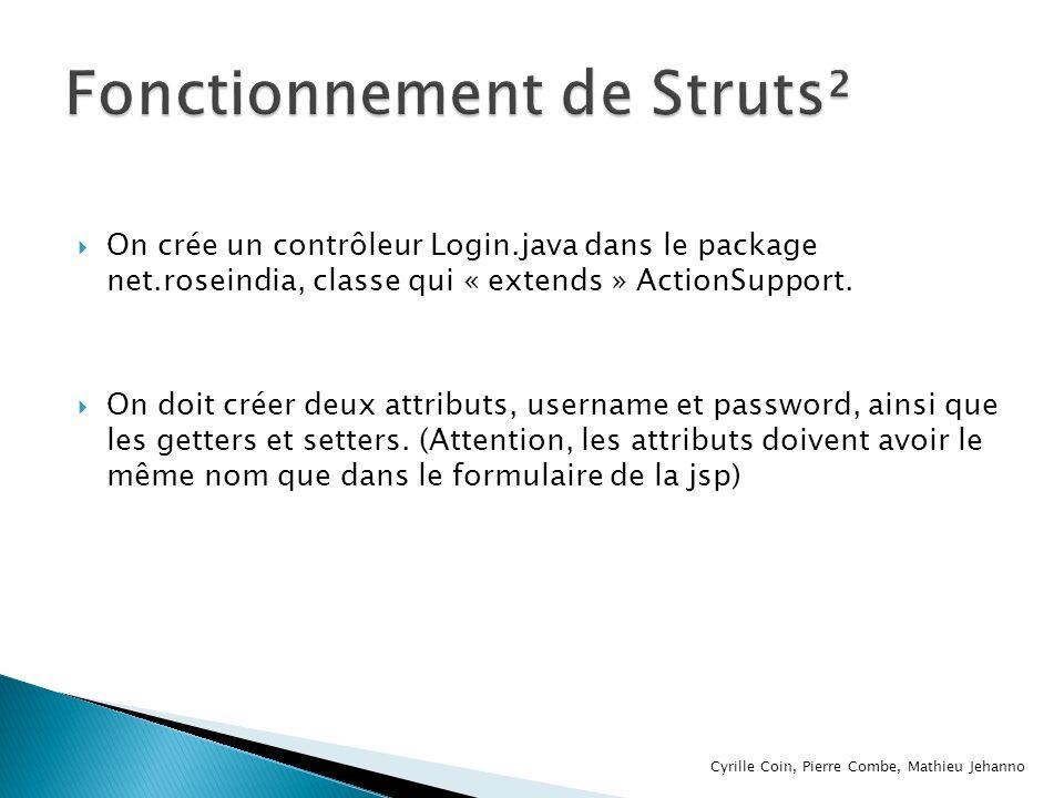 Fonctionnement de Struts²
