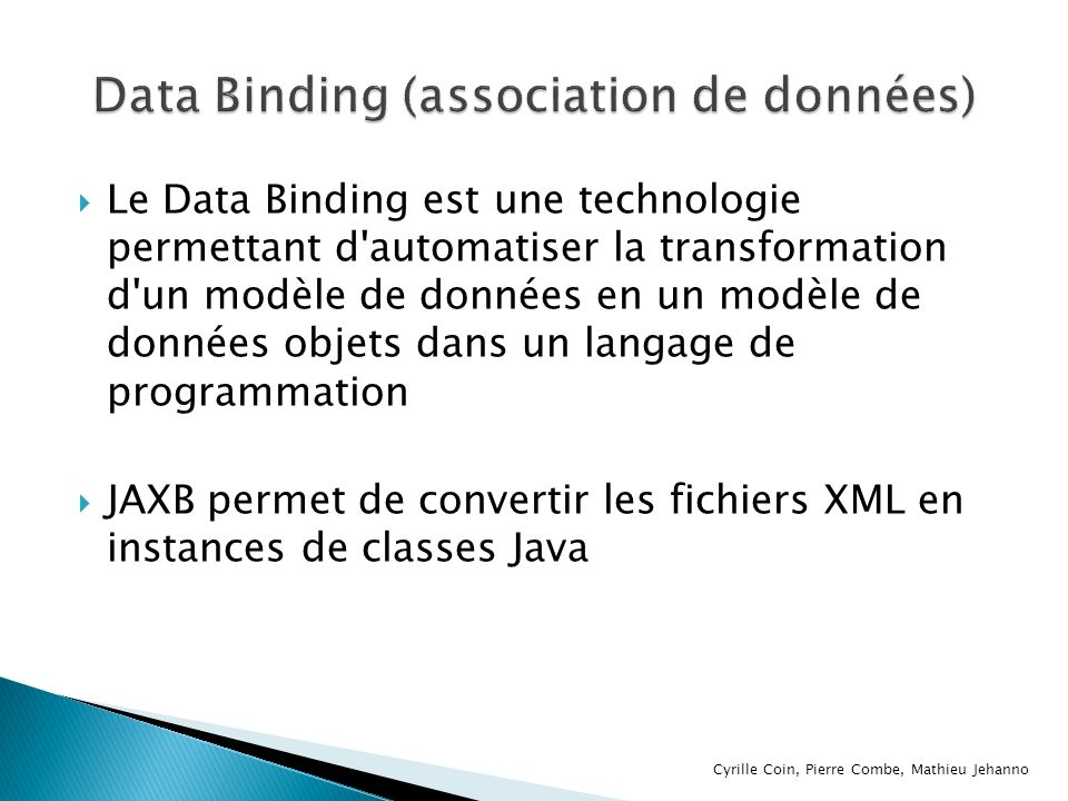 Data Binding (association de données)