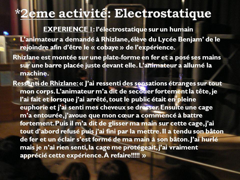 *2eme activité: Electrostatique