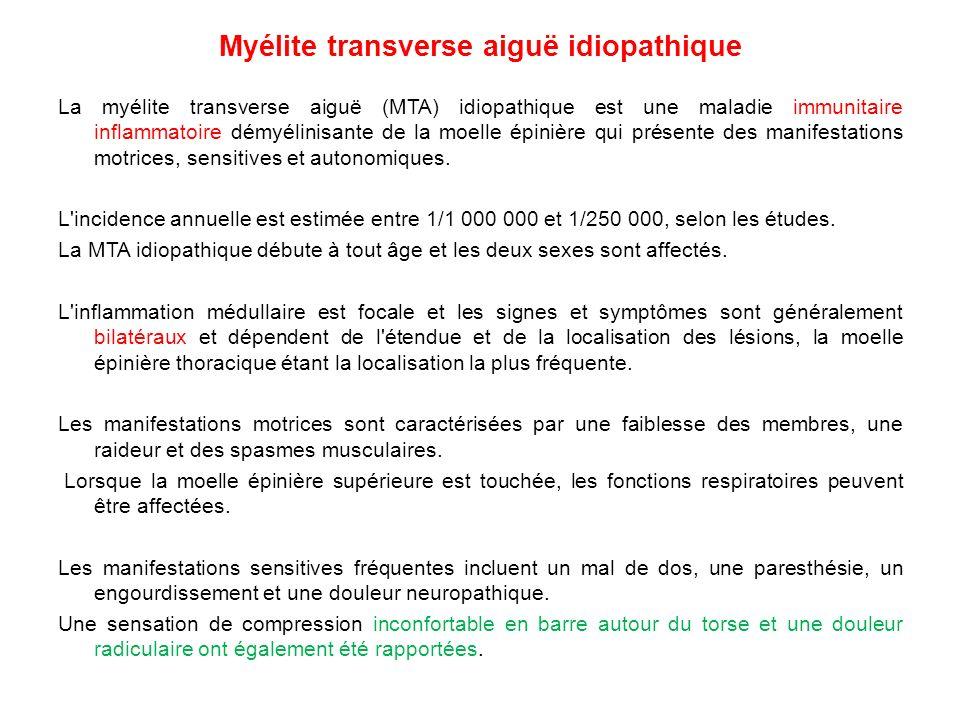 Myélite transverse aiguë idiopathique