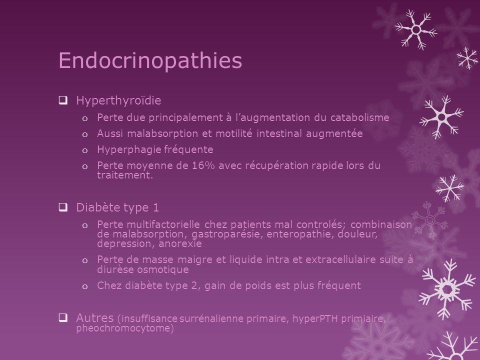 Endocrinopathies Hyperthyroïdie Diabète type 1