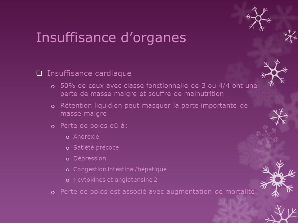 Insuffisance d'organes