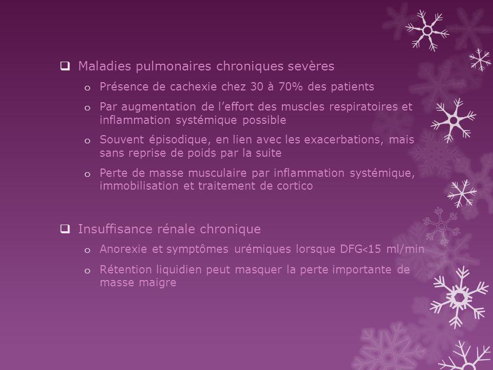 Maladies pulmonaires chroniques sevères