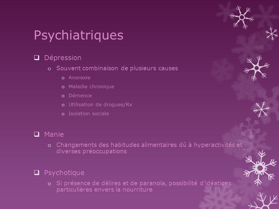 Psychiatriques Dépression Manie Psychotique