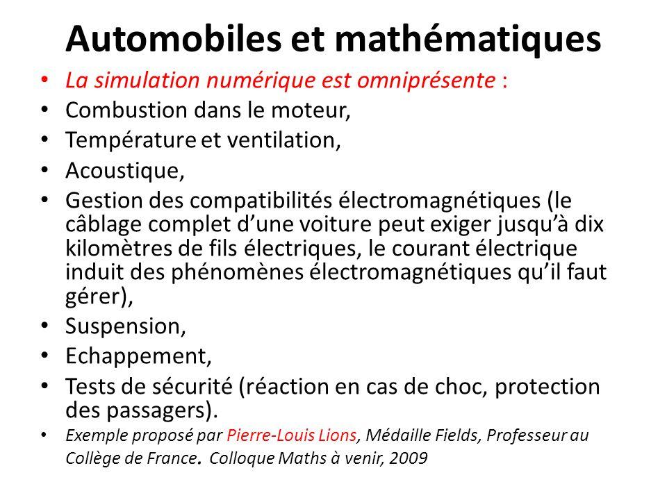 Automobiles et mathématiques