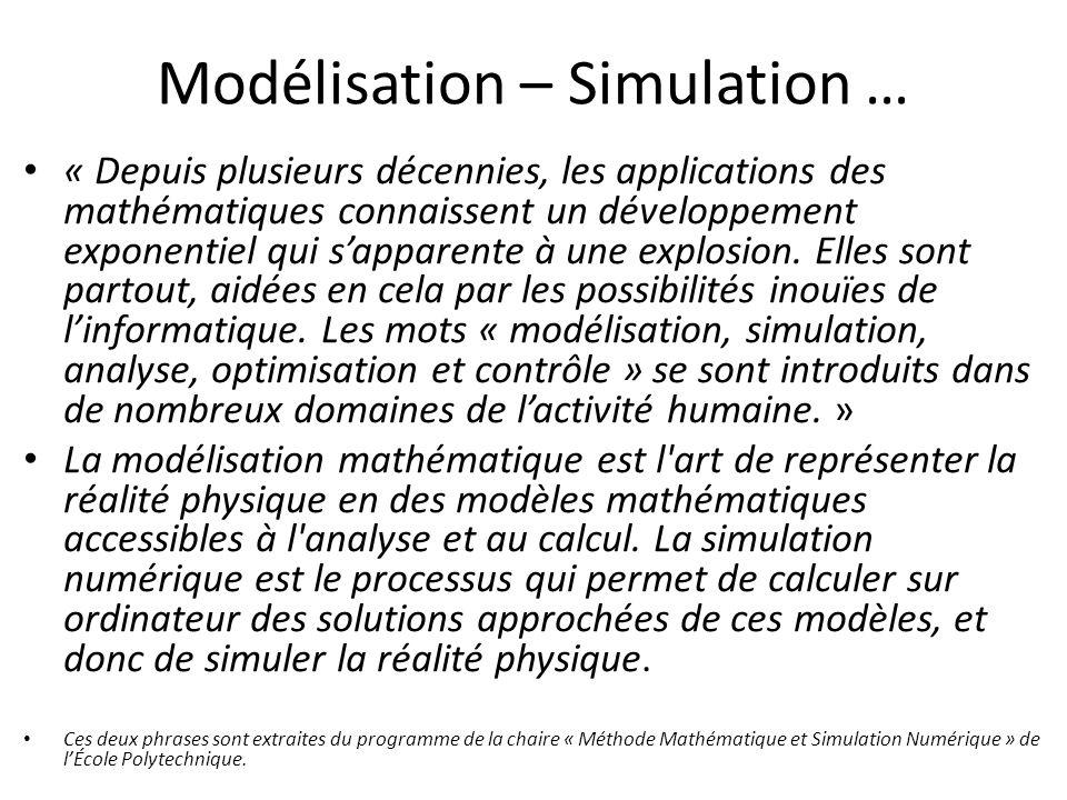 Modélisation – Simulation …