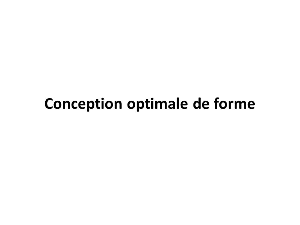 Conception optimale de forme
