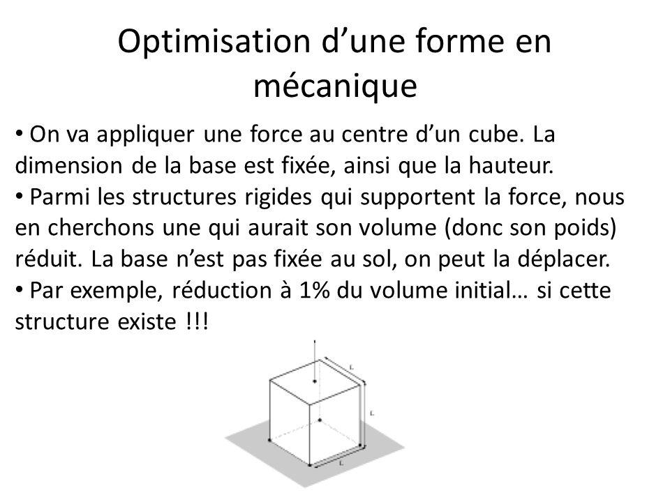 Optimisation d'une forme en mécanique