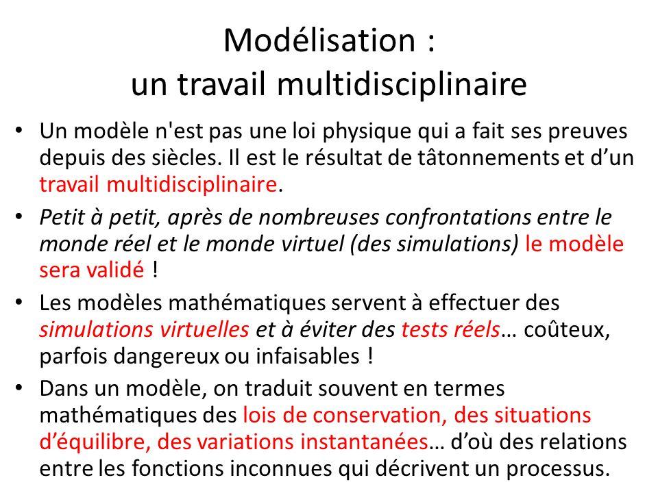 Modélisation : un travail multidisciplinaire
