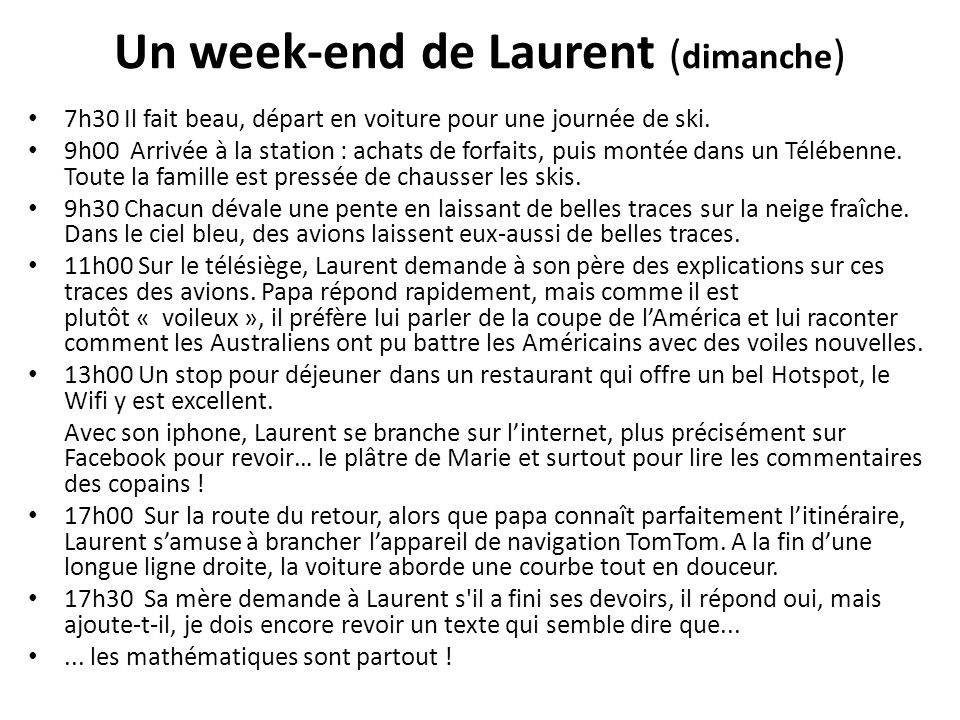 Un week-end de Laurent (dimanche)