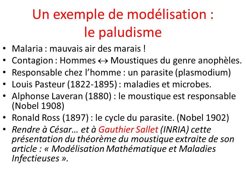 Un exemple de modélisation : le paludisme