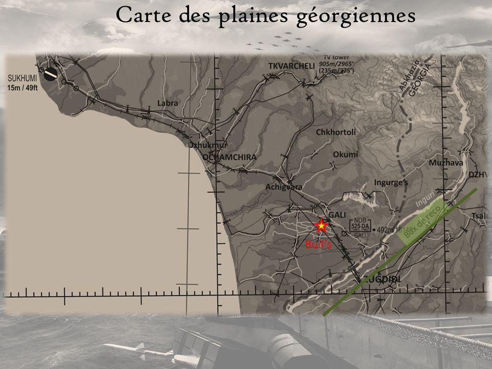 Carte des plaines géorgiennes
