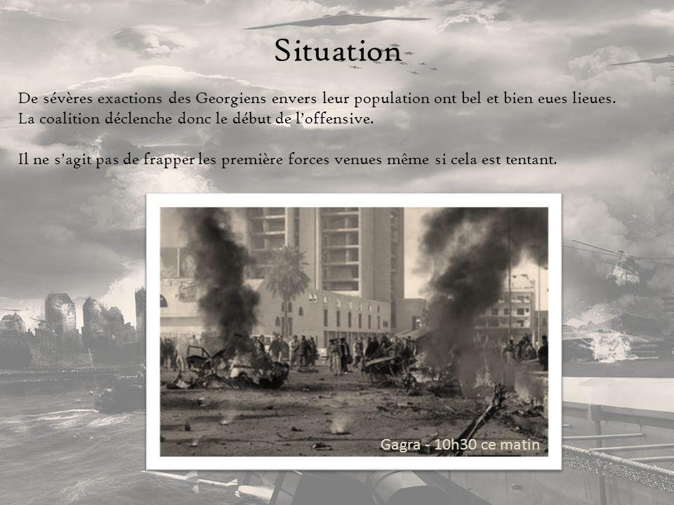 Situation De sévères exactions des Georgiens envers leur population ont bel et bien eues lieues.
