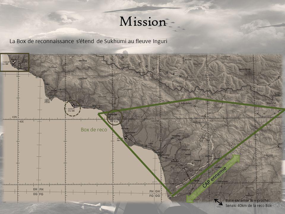 Mission La Box de reconnaissance s'étend de Sukhumi au fleuve Inguri