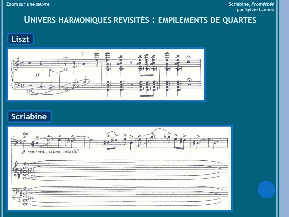Univers harmoniques revisités : empilements de quartes