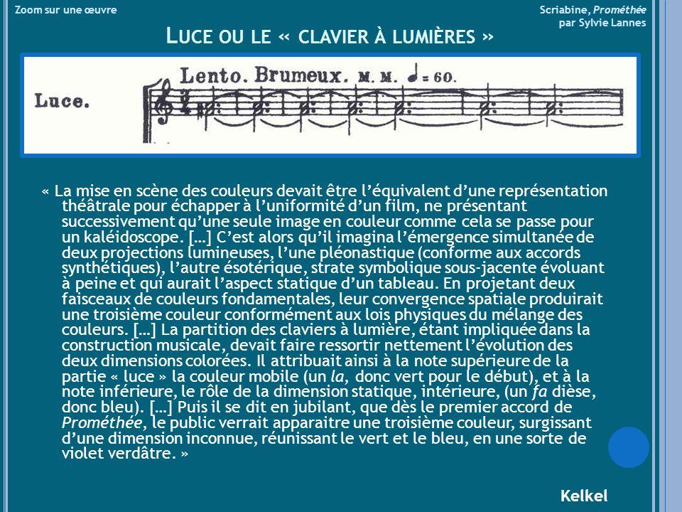 Luce ou le « clavier à lumières »