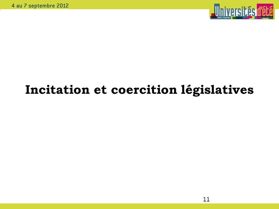 Incitation et coercition législatives