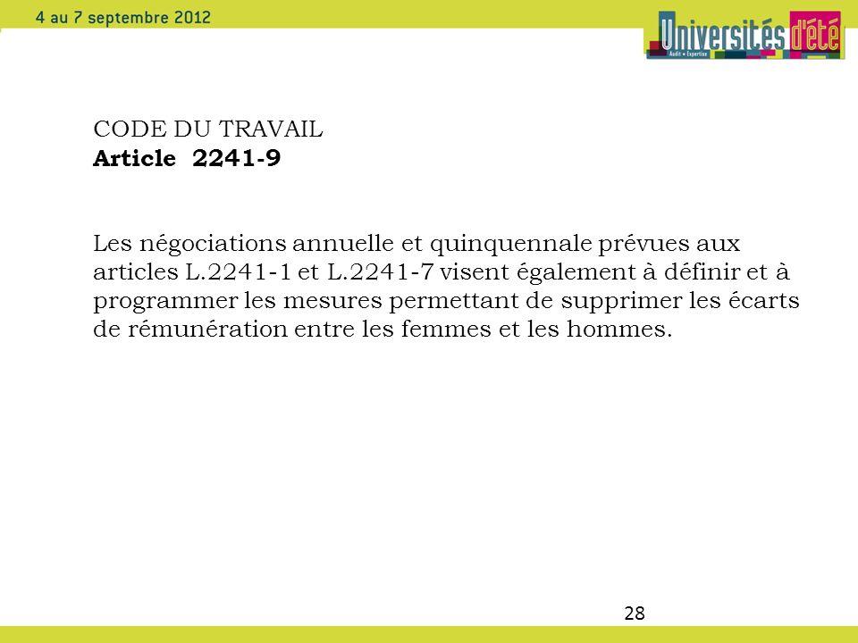 CODE DU TRAVAIL Article 2241-9.