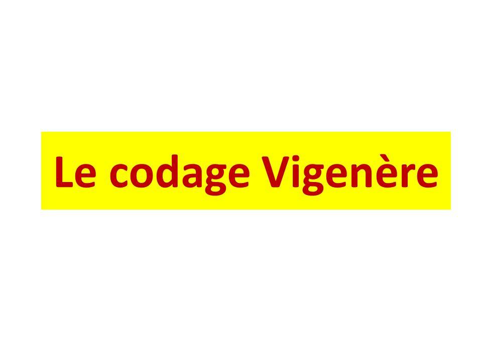 Le codage Vigenère