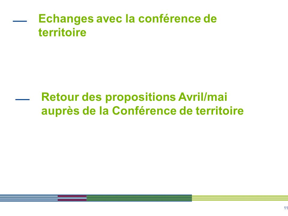 Echanges avec la conférence de territoire