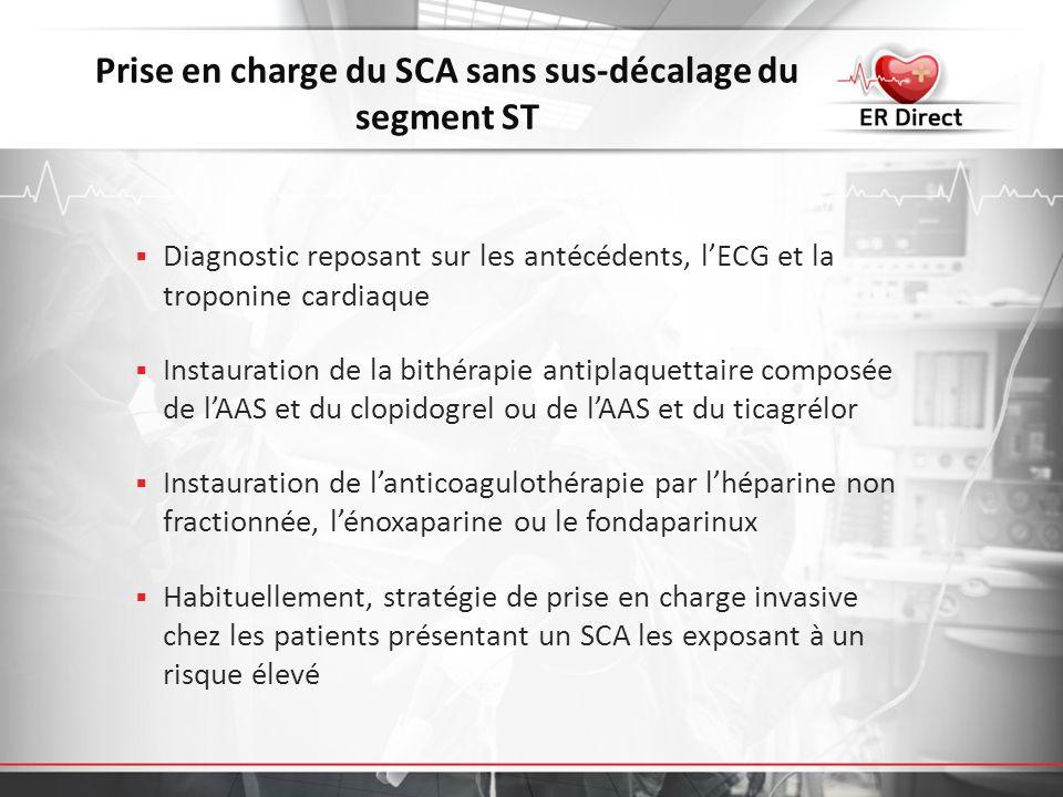 Prise en charge du SCA sans sus-décalage du segment ST