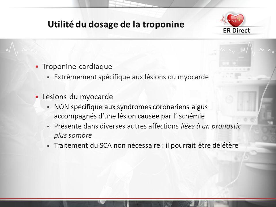 Utilité du dosage de la troponine