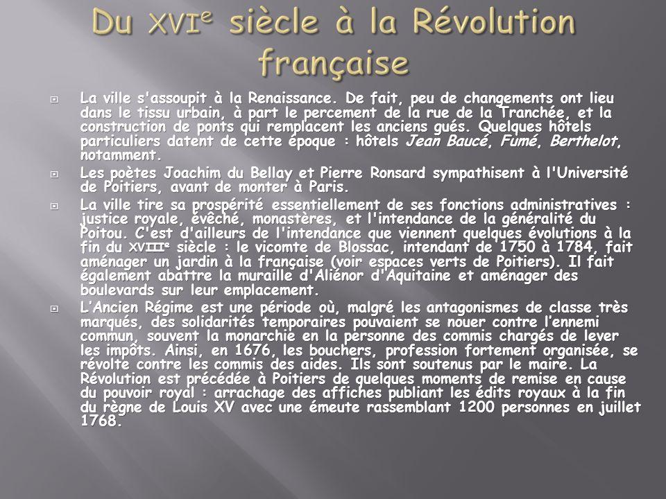 Du xvie siècle à la Révolution française