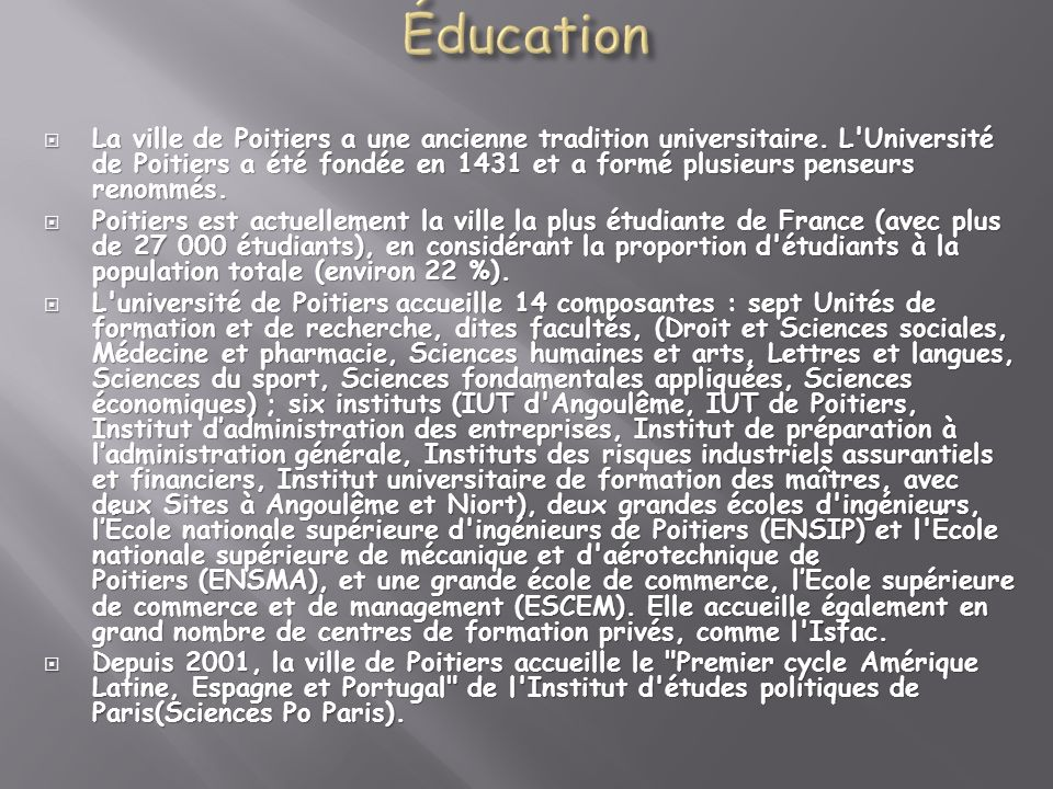 Éducation
