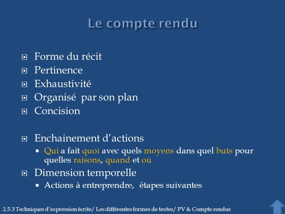 Enchainement d'actions