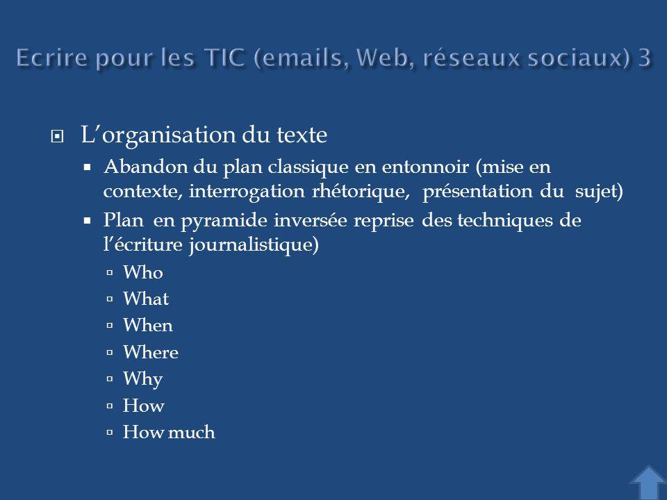 Ecrire pour les TIC (emails, Web, réseaux sociaux) 3