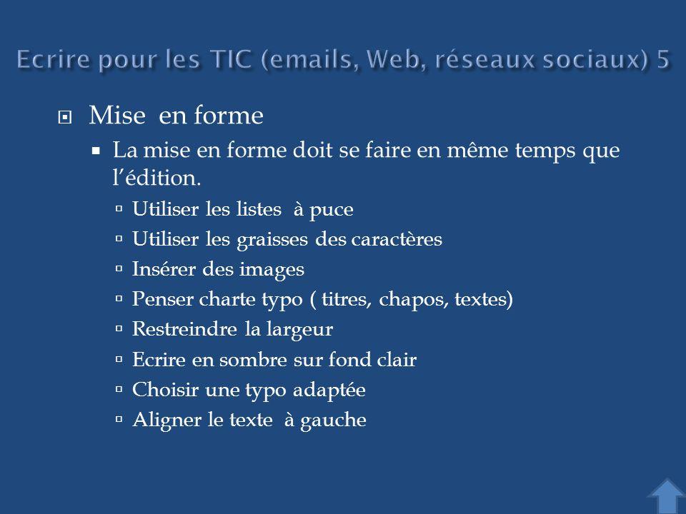 Ecrire pour les TIC (emails, Web, réseaux sociaux) 5
