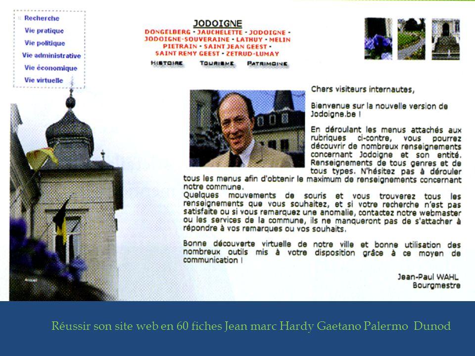 Réussir son site web en 60 fiches Jean marc Hardy Gaetano Palermo Dunod