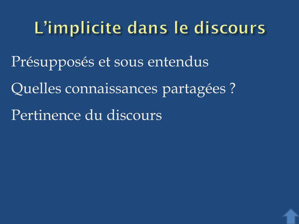L'implicite dans le discours