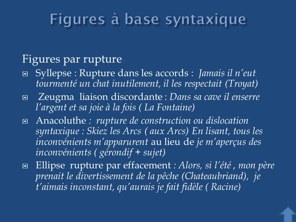 Figures à base syntaxique