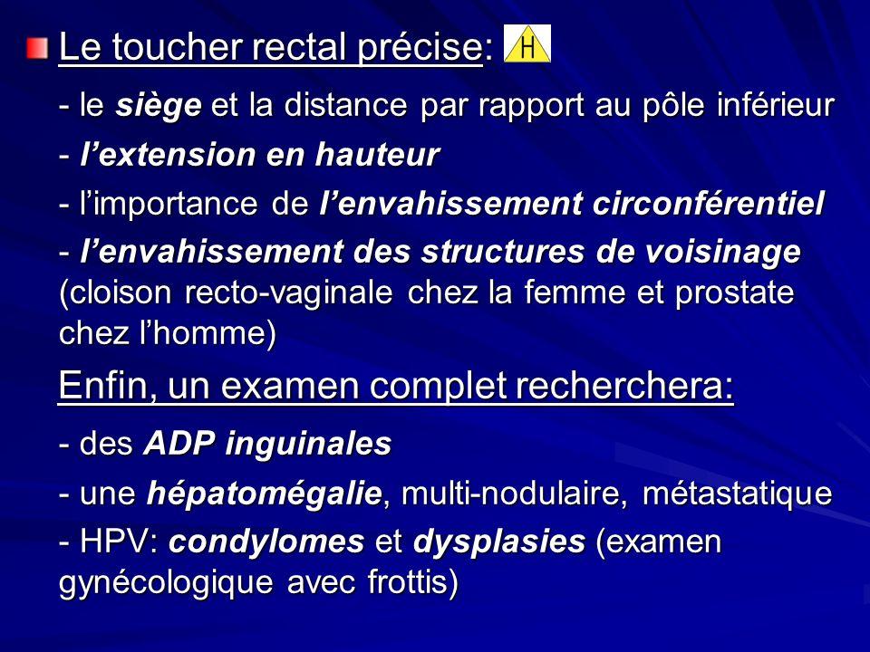 Le toucher rectal précise: