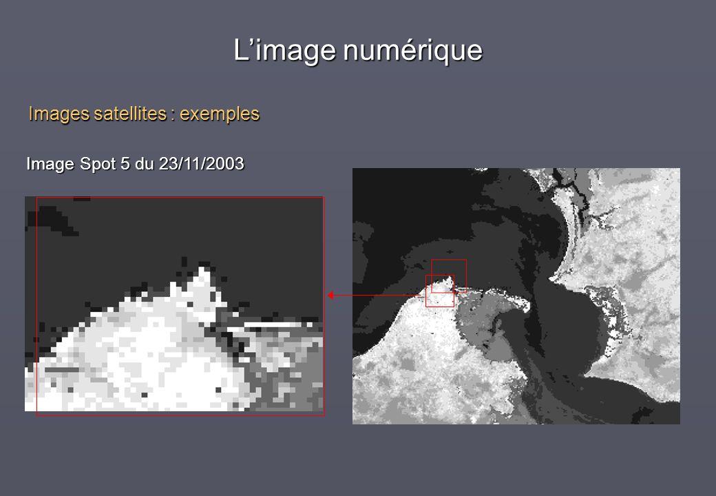 L'image numérique Images satellites : exemples