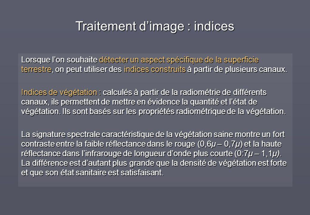 Traitement d'image : indices